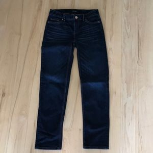 white house black market straight leg crop jeans